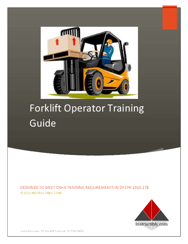 Forklift Certification Training Instructibly